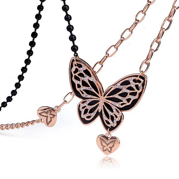 2016 новинка дизайн бабочка длинное ожерелье для зима ювелирные изделия, очарование свитер ожерелье для девочек