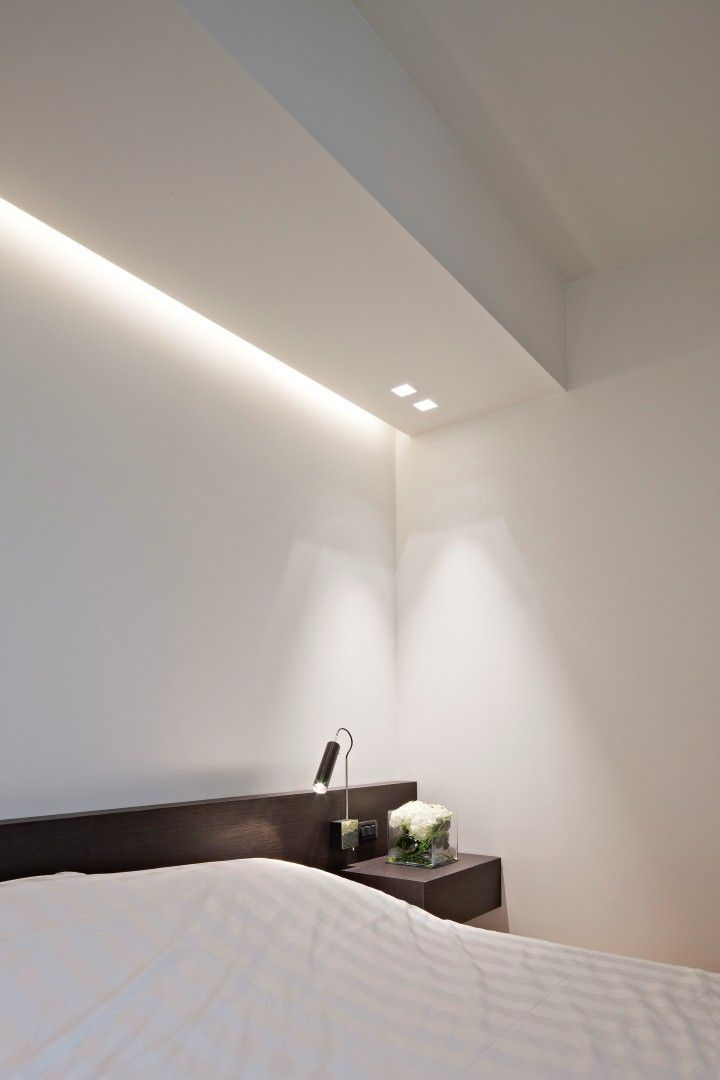 | LIGHTING | COVES Bedroom by iXtra interior architects. Beautiful lighting.