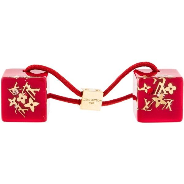 Pre-owned Louis Vuitton Inclusion Hair Cubes ($125) ❤ liked on Polyvore featuring accessories, hair accessories, red, clear hair ties, elastic hair ties, louis vuitton hair accessories, ponytail hair ties and red hair accessories