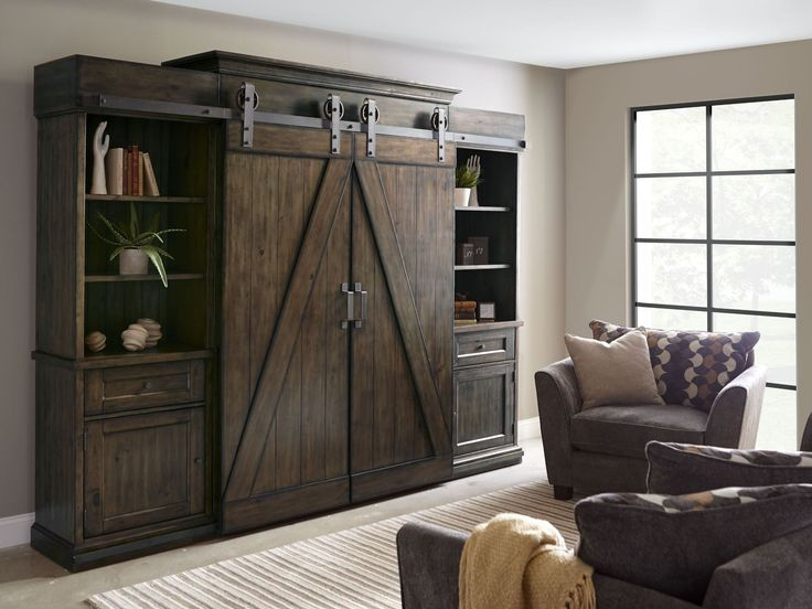 Family Room Entertainment Center on Rustic Tv Entertainment Centers