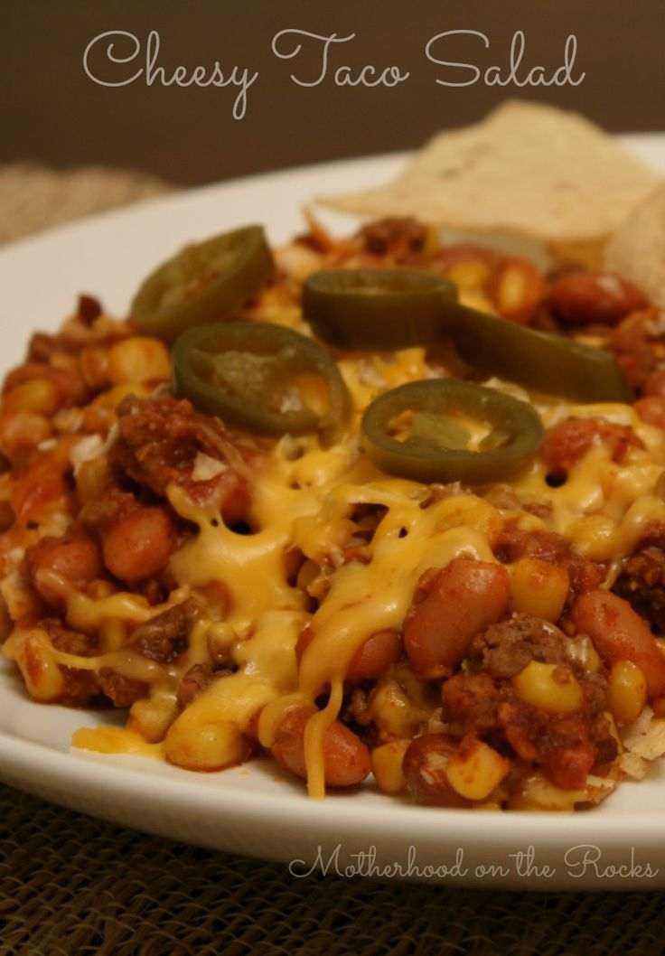 Cheesy Taco Salad! Perfect weeknight dinner. Super easy and delicious! #recipes #dinner #sponsored @Erin McCormick Spice