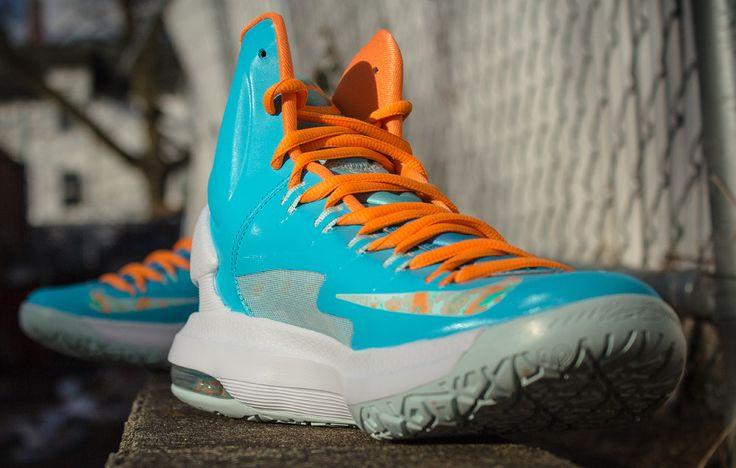 Guarantee Quality Nike KD V Teal Orange