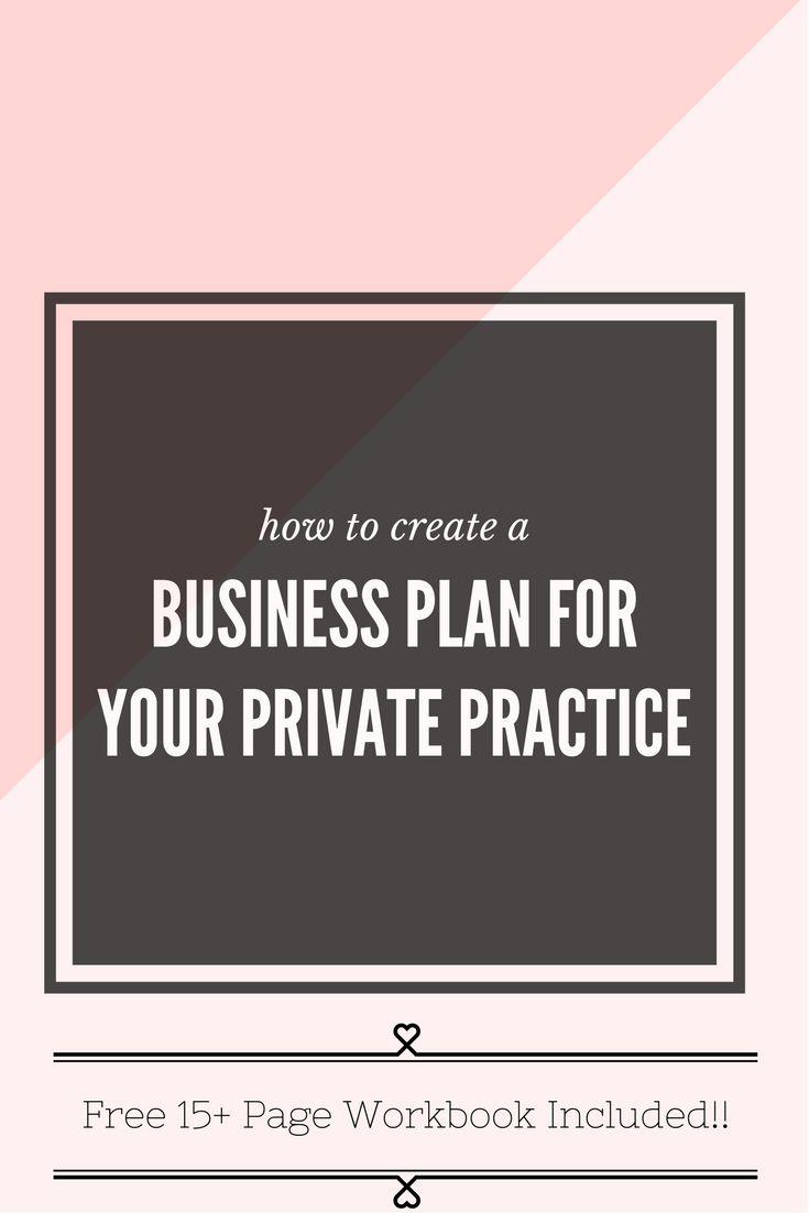 Medical Practice Business Plan Workbook