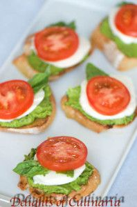 Caprese Sandwiches with Avocado Basil Spread - Delights Of Culinaria