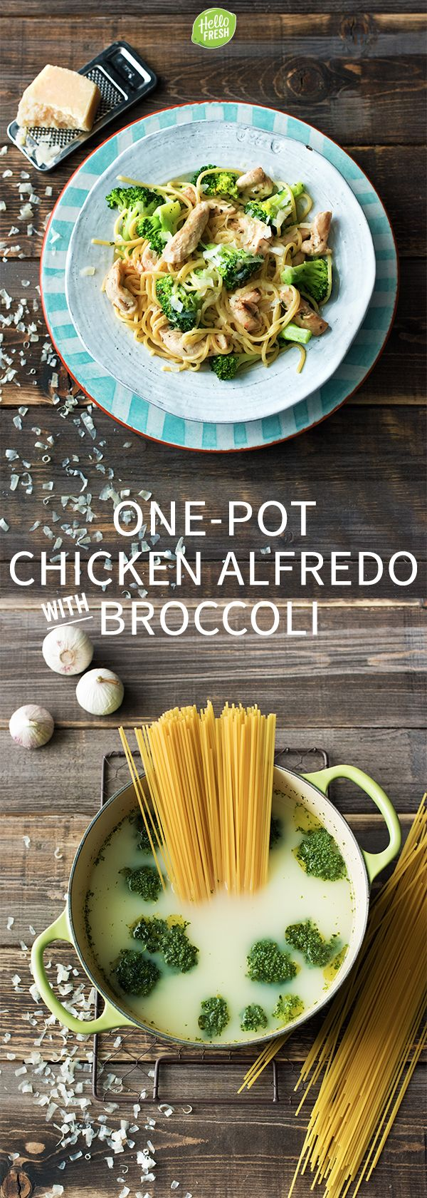 Easy and Delicious One-Pot Chicken Alfredo with Parmesan, Fresh Oregano, and…