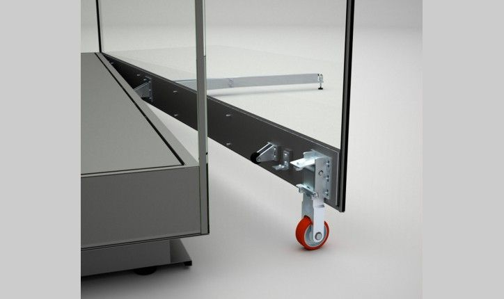 Free-Standing Island Display Cases for Museums with Door Opening - Goppion