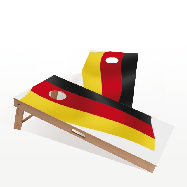Cornhole Boards - German Flag. The themed boards of Gockel #Cornhole come in several different designs. We have a design for everyone! www.gockel-cornhole.com