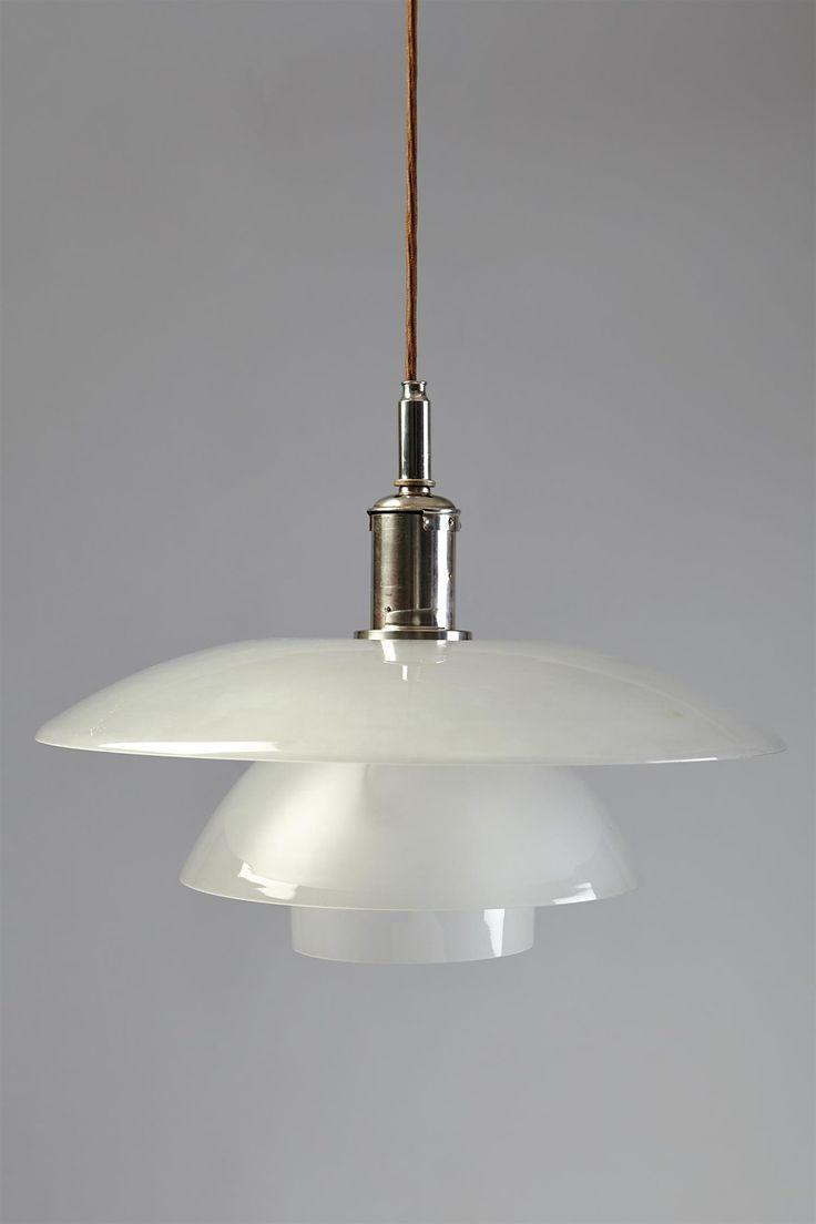 ph 5 5 ceiling lamp designed by poul henningsen for louis poulsen denmark 1930 39 s light. Black Bedroom Furniture Sets. Home Design Ideas
