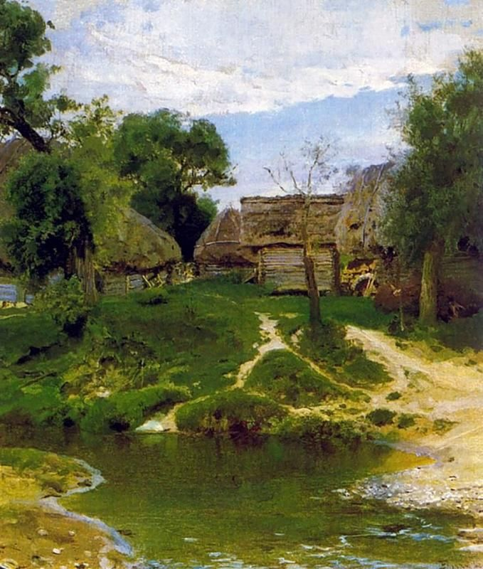 Василий-Дмитриевич-Поленов--Деревня-Тургенево.jpg (679×800)