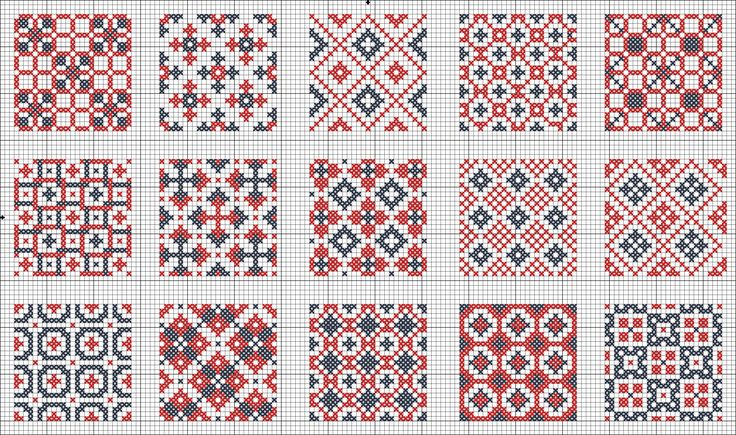 All Over patterns / chart for cross stitch, crochet, knitting, knotting, beading, weaving, pixel art, and other crafting projects