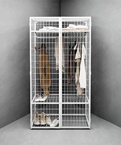 Via NordicDays.nl | IKEA PS 2014 Yes, I definitely need to pare my wardrobe down to a manageable size and make a cage for the wild, wild thing.  