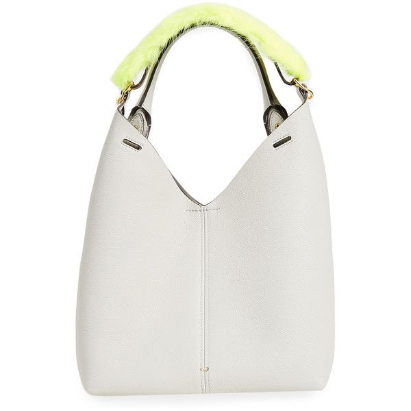 Anya Hindmarch Small Mink Build a Bag (85.605 RUB) ❤ liked on Polyvore featuring bags, handbags, anya hindmarch, anya hindmarch purse, top handle leather handbags, mink bag and white handbag