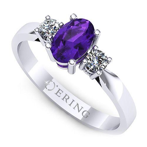 Inel logodna L35AAM cu ametist si diamante