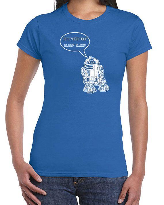 Beep bloop bop r2d2 quote star droid geek wars nerd by InkItTees