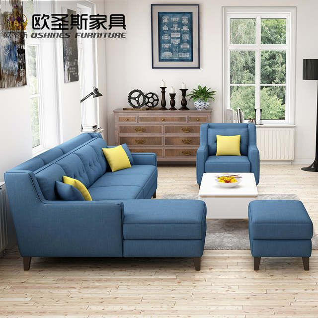 Online Shop New Arrival American Style Simple Latest Design Sectional L Shaped Corner Livingroom Furniture Fabric Sofa Latest Sofa Designs Sofa Set Sofa Design