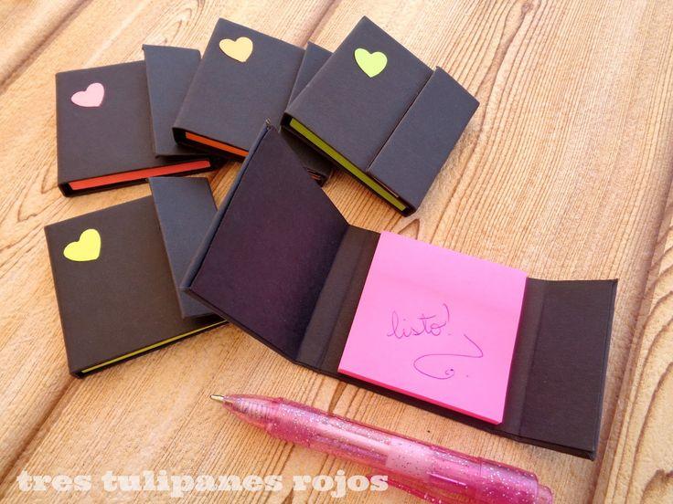 Tres Tulipanes Rojos: Porta post it