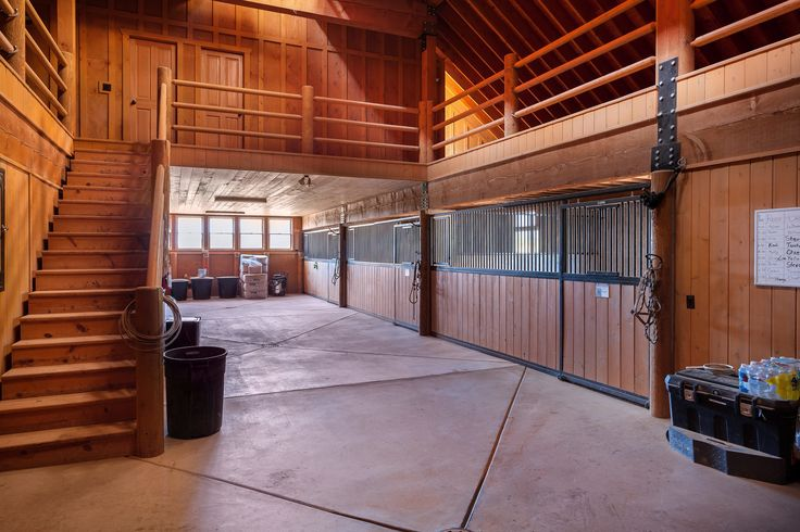 Riata Ranch, located in New Harmony, Utah - horse barn