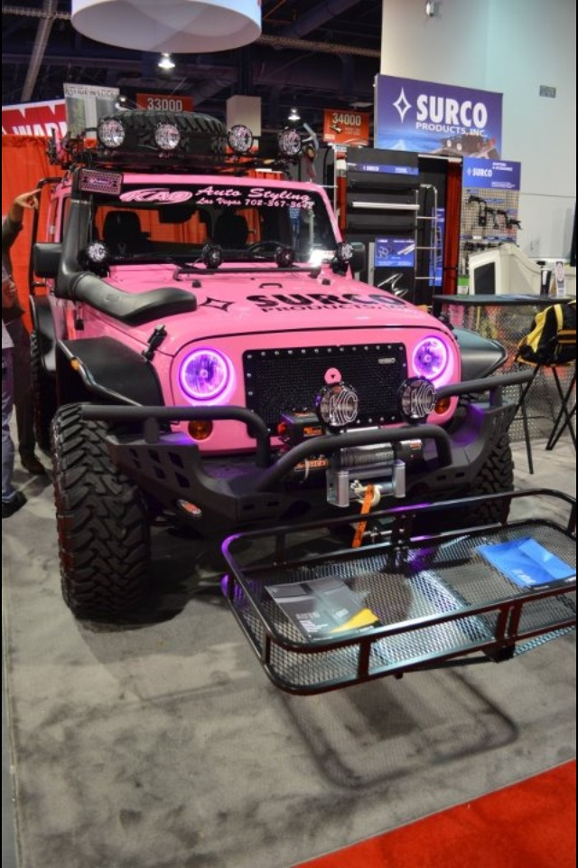 Crazy pink jeep wrangler This Jeep is cool I just would have chosen a different color