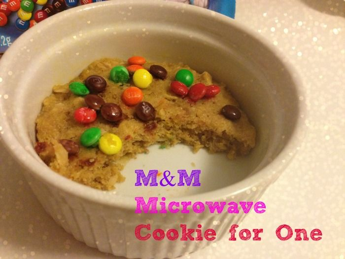M&M Microwave Cookie for One - Simple, but I need to buy some ramekins!