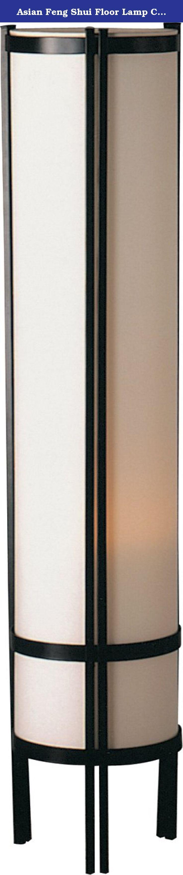 Asian Floor Lamps: Asian Feng Shui Floor Lamp Contemporary Modern Linen Shade 2029F. Asian  Feng Shui Floor Lamp,Lighting