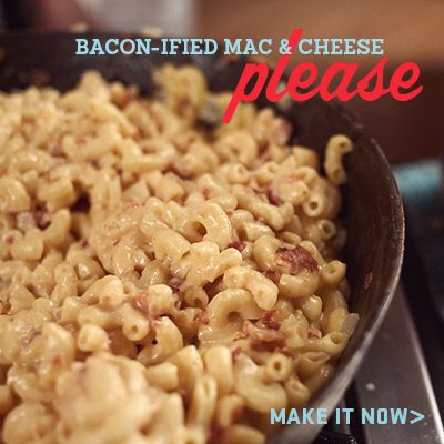 Creamy Homemade Macaroni & Cheese with Bacon   Prep Time: 25 min | Total Time: 25 min Makes: 10 servings, 1 cup each What You Need 1 pk...