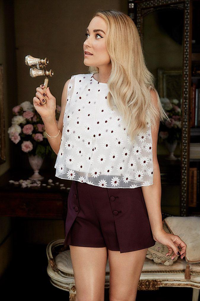 LC Lauren Conrad Runway Collection button front shorts - Credit: Lauren Conrad Official