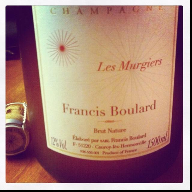 The delicious Francis Boulard Les Murgiers Brut Nature!