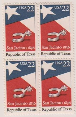 San Jacinto 1836 Republic of Texas stamp ... wow look at the stamp price, at least 20+ yrs ago