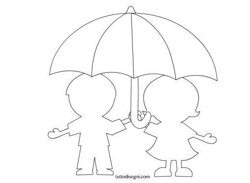 bambini-ombrello-sagoma