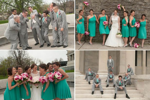 Love this collection of outdoor wedding party photos!