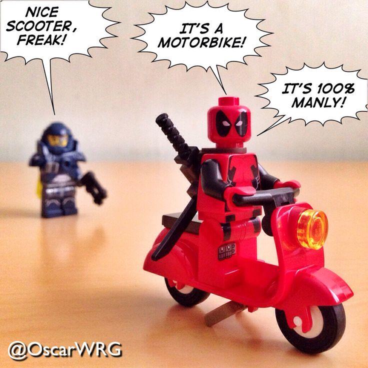 #LEGO_Galaxy_Patrol #LEGO #Deadpool #Marvel #LEGOmarvel #Scooter #Vespa #Motorbike @Marvel @lego_group @lego @bricknetwork @brickcentral