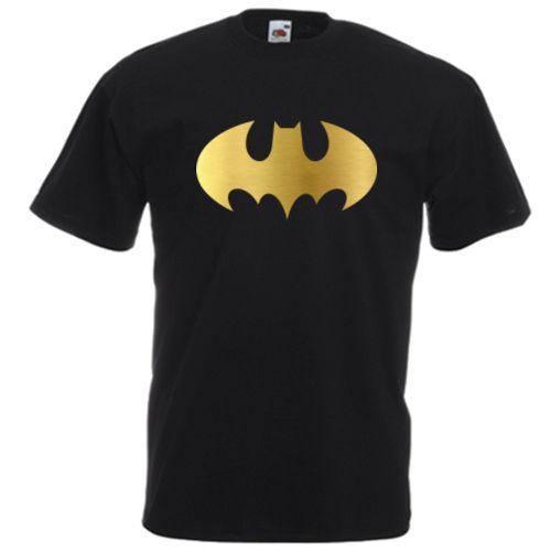 Tricou Batman simbol Tricou cu simbolul lui Batman, liliacul, intr-o varietate de culori si texturi.