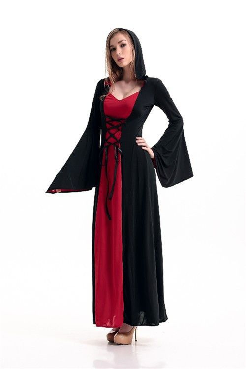 Victorian Halloween Costumes Hoodie Witch Costume Women Long Dress Cosplay Clothes Women 2015 Victorian Halloween Costumes