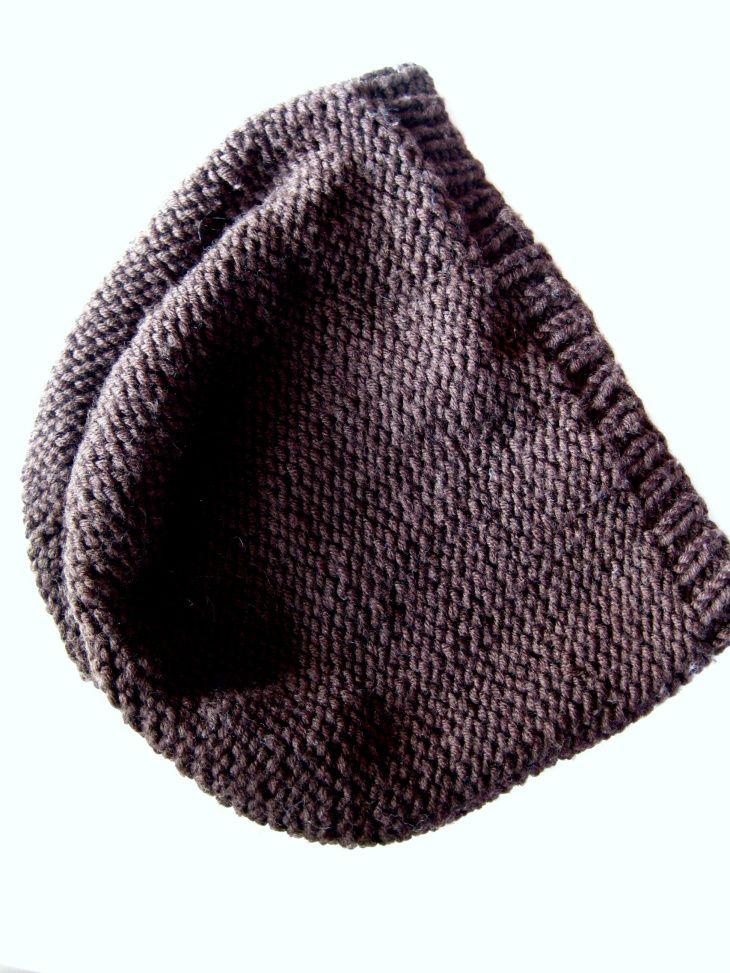 Mütze stricken glatt links einfach   Stricken   Pinterest   Beanie ...