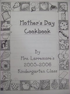 Mothers Day cookbook: Mothers S Father, Classroom Ideas To Mak, Schools Ideas, Mothers Day Ideas, Chalk Talk, Gifts, Kindergarten Blogs, Mother'S Day, Crafts