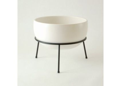 planters with white branches | modern indoor pots and planters by YLiving.com