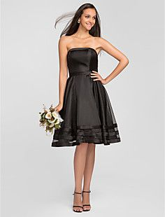A-line Strapless Knee-length Organza Bridesmaid Dress (66367... – USD $ 99.99 oh my goodness do they have this in purple