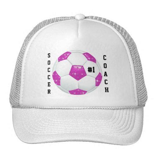 #1 Soccer Coach Diamond Gemstones Pink Soccer Ball Cap for Christmas gift giving!  http://www.zazzle.com/1_soccer_coach_diamond_gemstones_pink_soccer_ball-148234779543263050?rf=238575087705003771
