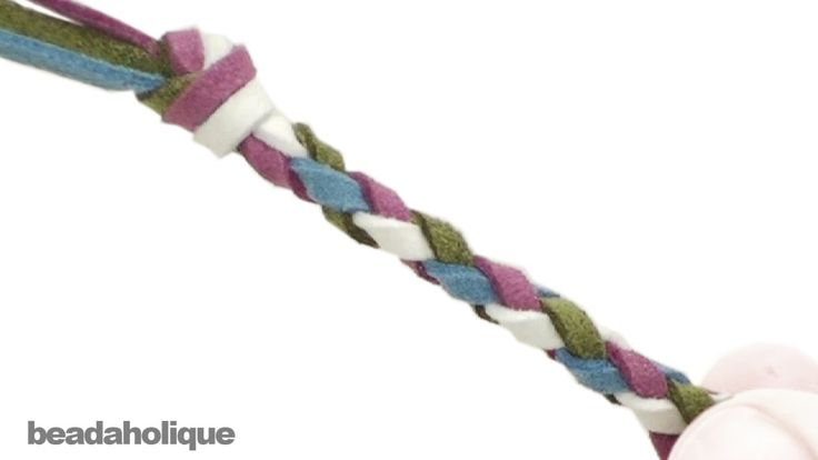 How to Make a Four Strand Round Braid❤Hippie Hugs with Lღve, Michele❤