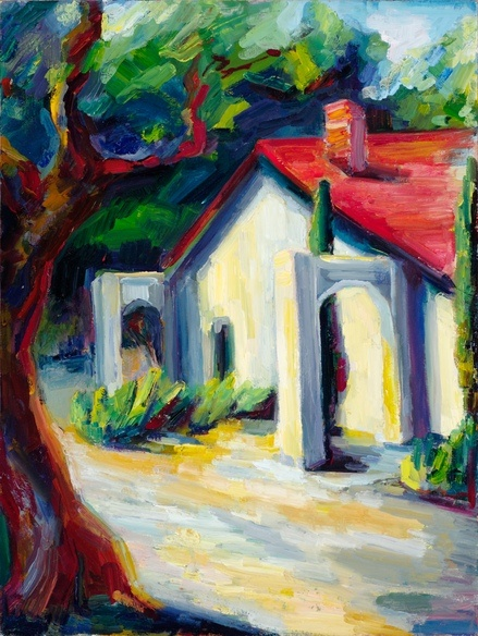"""""""A mission building"""" by Lena Levin - I love her work!!!"""