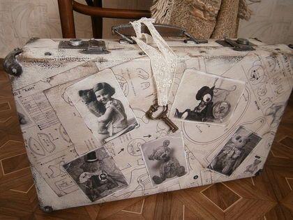 """Чемодан """"Старенький, но такой любимый..."""" - чемодан,мишки тедди,мастерская"""