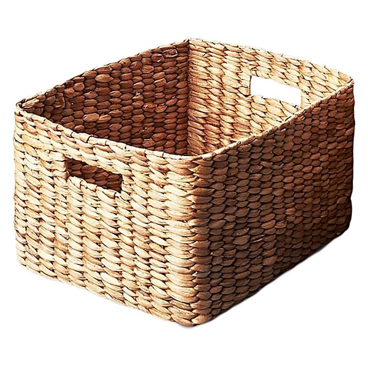 Style your home office or laundry storage with the tribal design of the Waterhyacinth Rectangular Basket from Inartisan.