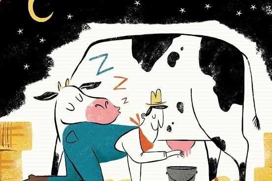 Drinking cow's milk produced at night may be a treatment for anxiety and insomnia, an animal study suggests
