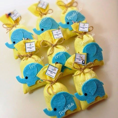 felt lavender bags / felt elephants / fil figürlü keçe lavanta kesesi