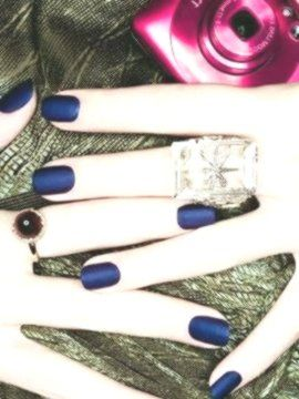 30 Matte Nägel, die du unbedingt haben solltest #squovalnails – #blauenägel
