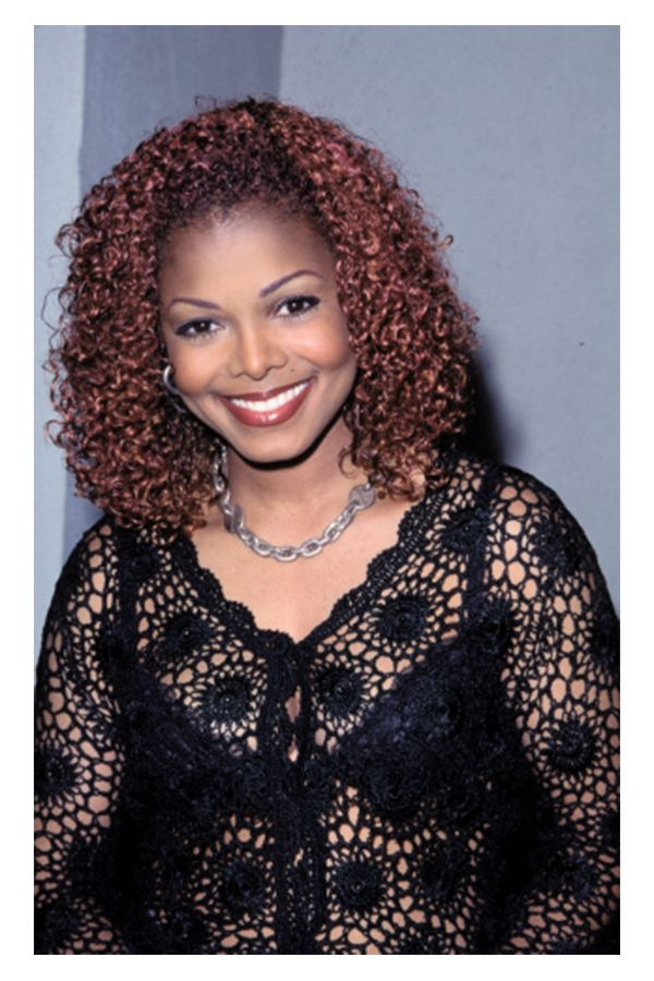 The Best Hair Color For Natural Curly Hair For Black Womens Janet Jackson Janet Jackson Velvet Rope Curly Hair Styles Naturally