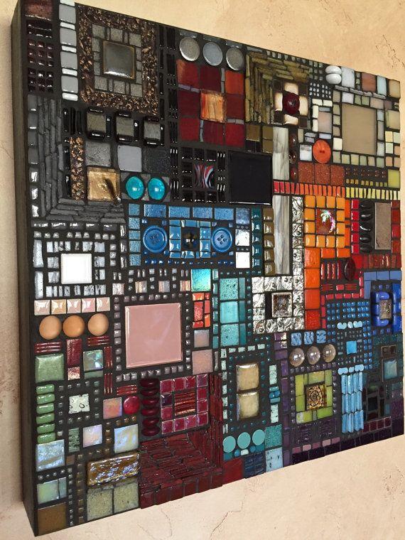 ON SALE 75 off until 8/31st Mosaic Art Diverse City by ringmosaics