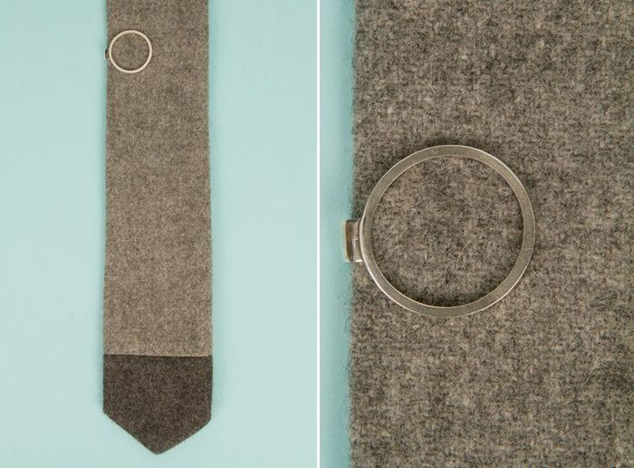 Accessories for the Stylish Groom - A Modern Circle Tie Pin - modern and understated. I guess a key ring would do as well ;)