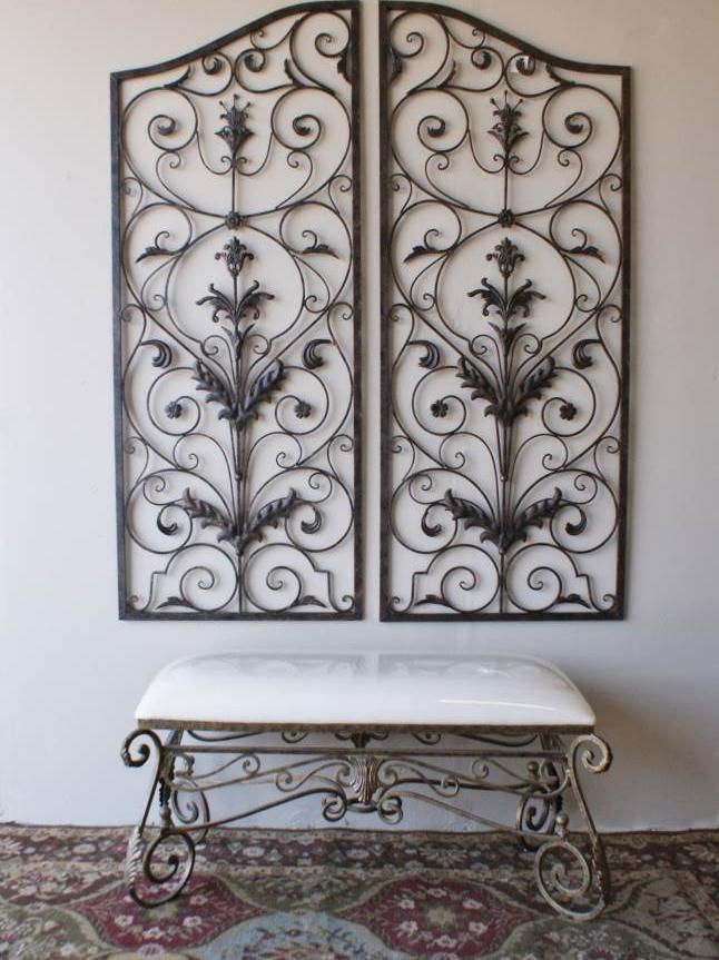 Garden Iron Wall Decor : Best ideas about large metal wall art on