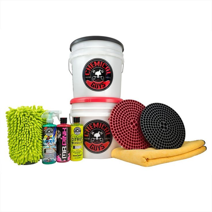 Amazon.com: Chemical Guys HOL129    Best Two Bucket Wash and Dry Kit (11 Items), 16 fl. oz, 11 Pack: Automotive
